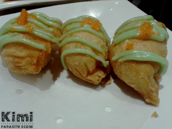 Wasabi Salad Prawn Dumpling