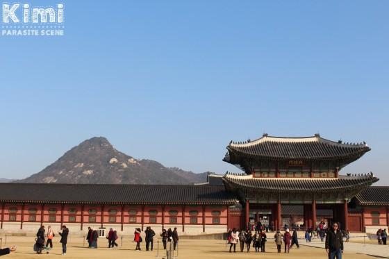 Gwanghwamun, Séoul - Février 2015