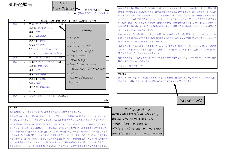 seven personal skills   le cv japonais